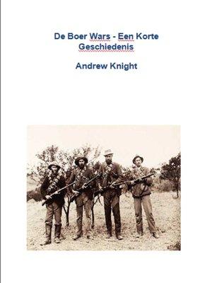 cover image of De Boer Wars