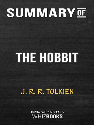 cover image of Summary of the Hobbit by J.R.R. Tolkien / Trivia/Quiz for Fans