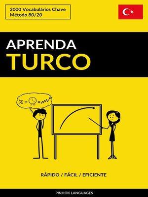 cover image of Aprenda Turco