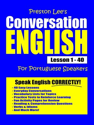 cover image of Preston Lee's Conversation English For Portuguese Speakers Lesson 1