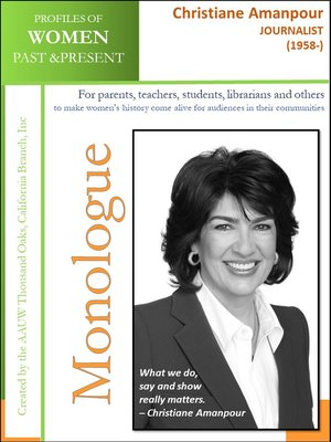 cover image of Profiles of Women Past & Present – Christiane Amanpour, Journalist (1958-)
