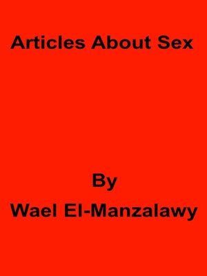 cover image of Articles About Sex