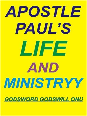 cover image of Apostle Paul's Life and Ministry