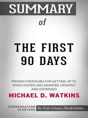 cover image of Summary of the First 90 Days, Updated and Expanded