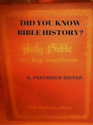 cover image of Did You Know About Bible History?