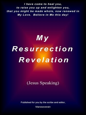 "cover image of ""My Resurrection Revelation"" (Jesus Speaking)"
