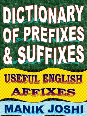 cover image of Dictionary of Prefixes and Suffixes