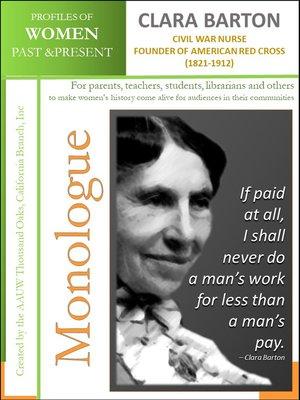 cover image of Profiles of Women Past & Present – Clara Barton (1821-1912)