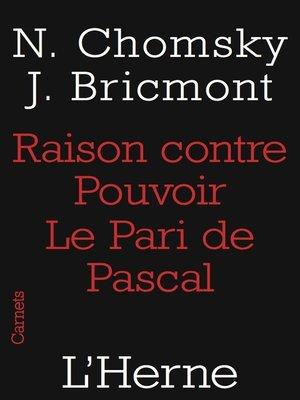 cover image of Raison contre pouvoir. Le Pari de Pascal