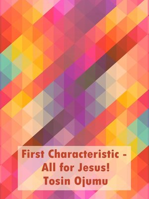 cover image of First Characteristic