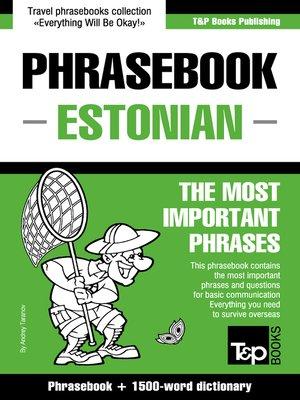 cover image of Phrasebook Estonian