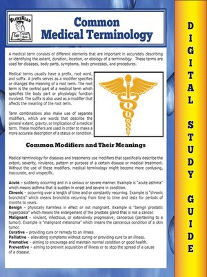 cover image of Common Medical Terminology ( Blokehead Easy Study Guide)