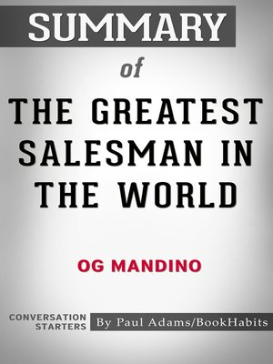 cover image of Summary of the Greatest Salesman in the World by Og Mandino / Conversation Starters