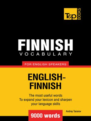 cover image of Finnish vocabulary for English speakers