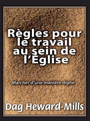 cover image of Règles pour le travail au sein de l'église, 2e édition