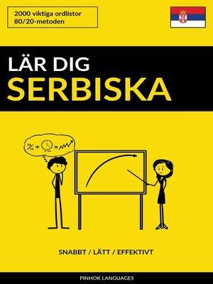 cover image of Lär dig Serbiska