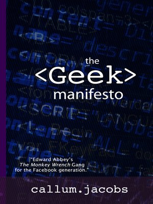 cover image of The Geek Manifesto