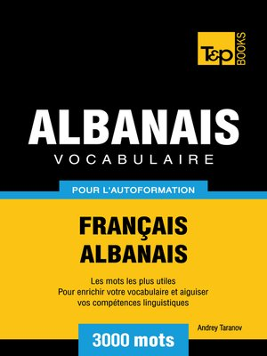 cover image of Vocabulaire Français-Albanais pour l'autoformation
