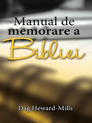 cover image of Manual De Memorare a Bibliei