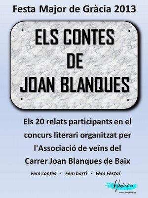 cover image of Els contes de Joan Blanques 2013