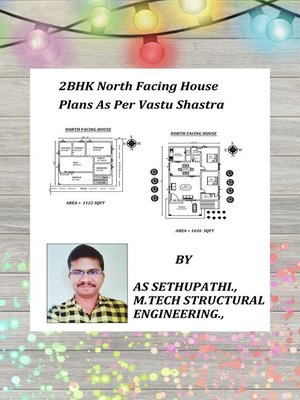 cover image of 2BHK North Facing House Plans As Per Vastu Shastra