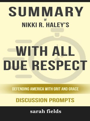 cover image of Summary of With All Due Respect
