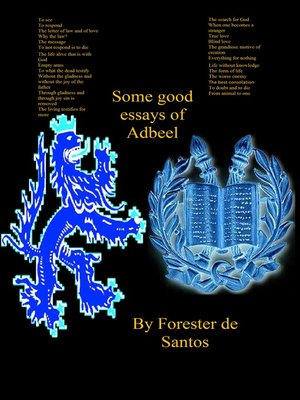 cover image of Some Good Essays of Adbeel