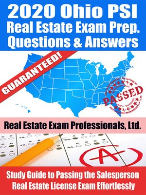 cover image of 2020 Ohio PSI Real Estate Exam Prep Questions & Answers