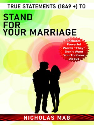 cover image of True Statements (1849 +) to Stand for Your Marriage