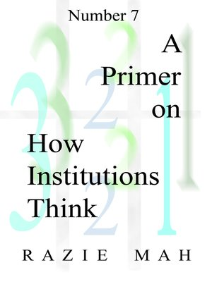 cover image of A Primer on How Institutions Think