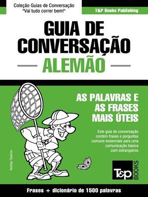 cover image of Guia de Conversação Português-Alemão e dicionário conciso 1500 palavras