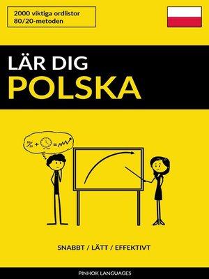 cover image of Lär dig Polska