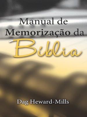 cover image of Manual De Memorização Da Bíblia