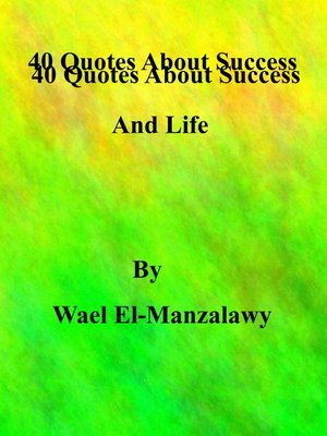cover image of 40 Quotes About Success and Life