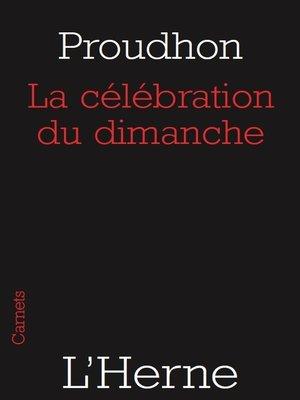 cover image of La célébration du dimanche