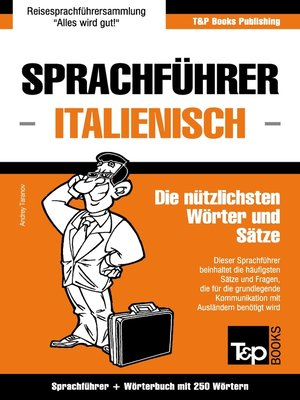 cover image of Sprachführer Deutsch-Italienisch und Mini-Wörterbuch mit 250 Wörtern