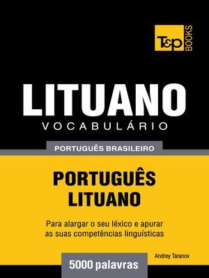 cover image of Vocabulário Português Brasileiro-Lituano