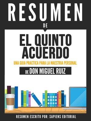 cover image of El Quinto Acuerdo
