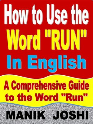 """cover image of How to Use the Word """"Run"""" In English"""