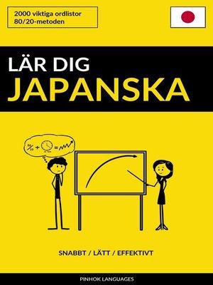 cover image of Lär dig Japanska