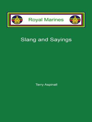 cover image of Royal Marines Slang and Sayings