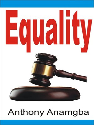 cover image of Equality
