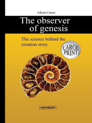 cover image of The Observer of Genesis. the Science behind the Creation Story