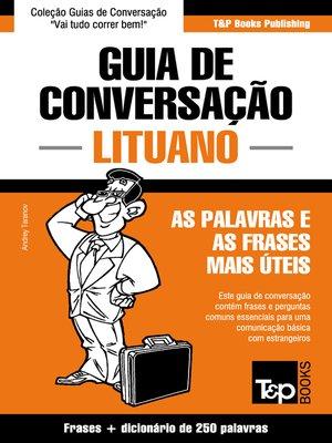 cover image of Guia de Conversação Português-Lituano e mini dicionário 250 palavras