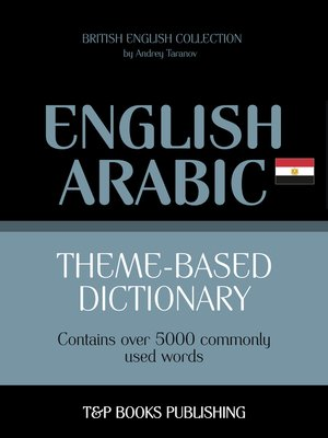 cover image of Theme-based dictionary British English-Egyptian Arabic