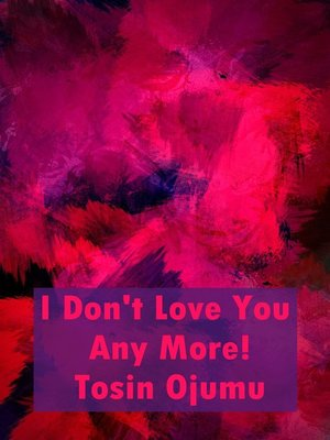 cover image of I Don't Love You Any More!
