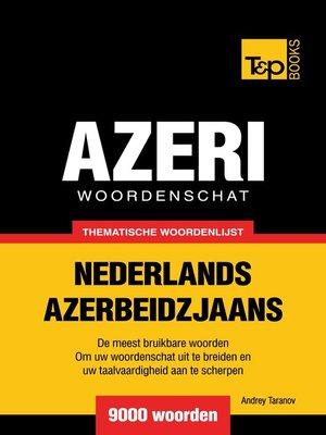 cover image of Thematische woordenschat Nederlands-Azerbeidzjaans