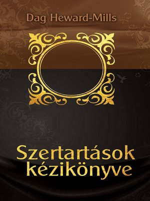 cover image of Szertartások Kézikönyve