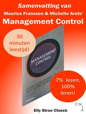 cover image of Samenvatting van Maurice Franssen & Michelle Arets' Management Control
