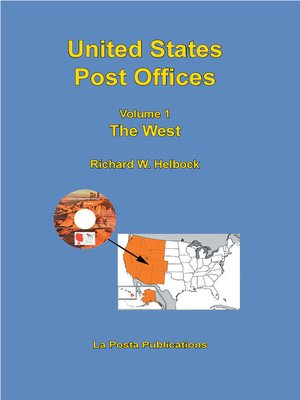 cover image of United States Post Offices Volume 1 the West